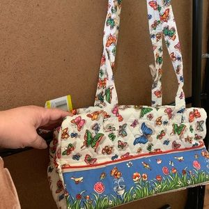 Bags - Butterfly purse soft cloth brand new